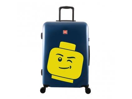 """LEGO Luggage ColourBox Minifigure Head M 24"""" - Námořnická modř  + LED čelová svítilna"""