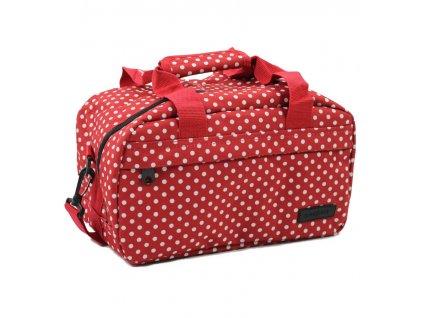 Cestovní taška MEMBER'S SB-0043 - červená/bílá