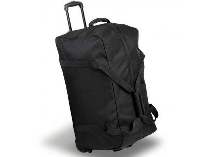 Cestovní taška na kolečkách MEMBER'S TT-0035 - černá  + LED svítilna