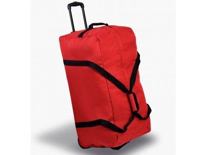 Cestovní taška na kolečkách MEMBER'S TT-0035 - červená  + LED svítilna