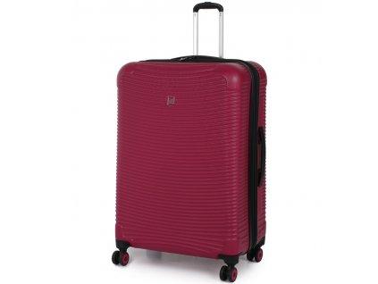 Cestovní kufr IT Luggage HORIZON TR-1500/3-L DUR - vínová  + LED svítilna