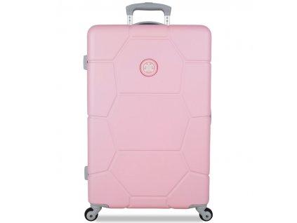 Cestovní kufr SUITSUIT® TR-1231/3-M ABS Caretta Pink Lady  + LED svítilna