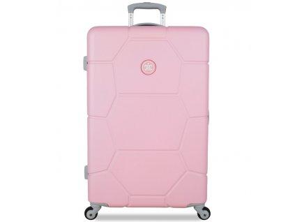 Cestovní kufr SUITSUIT® TR-1231/3-L ABS Caretta Pink Lady  + LED svítilna