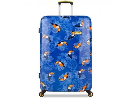 Cestovní kufr B.HPPY BH-1604/3-L - I can Toucan  + LED svítilna