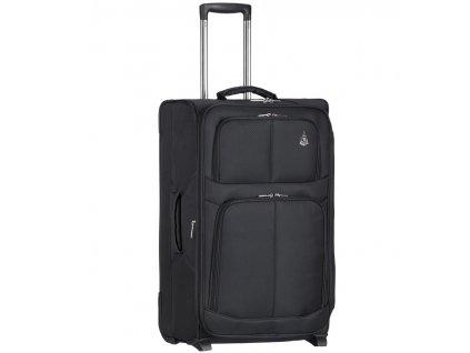 Kabinové zavazadlo AEROLITE T-9613/3-S - černá  + LED svítilna