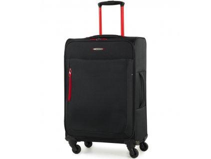 Cestovní kufr MEMBER'S TR-0137/3-M - černá  + LED svítilna