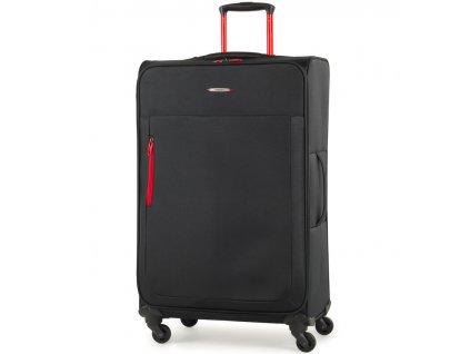 Cestovní kufr MEMBER'S TR-0137/3-L - černá  + LED svítilna