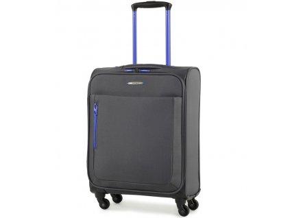 Kabinové zavazadlo MEMBER'S TR-0137/3-S - šedá  + LED svítilna