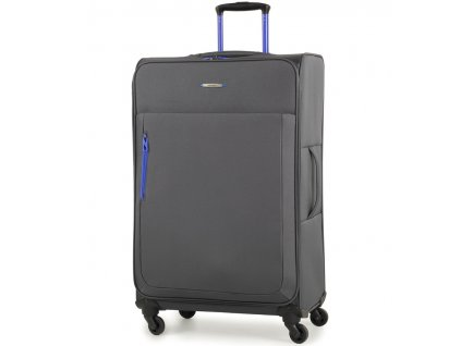 Cestovní kufr MEMBER'S TR-0137/3-L - šedá  + LED svítilna