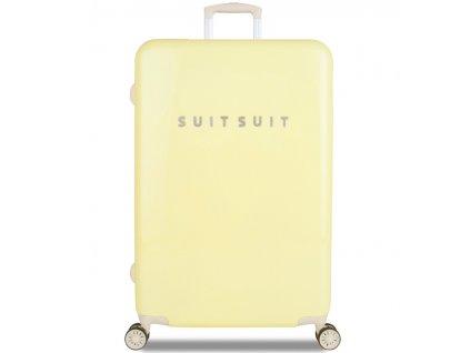 Cestovní kufr SUITSUIT® TR-1220/3-L - Fabulous Fifties Mango Cream  + LED svítilna