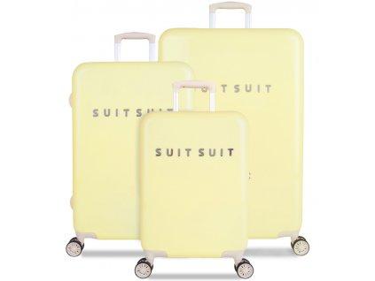 Sada cestovních kufrů SUITSUIT® TR-1220/3 - Fabulous Fifties Mango Cream  + LED svítilna