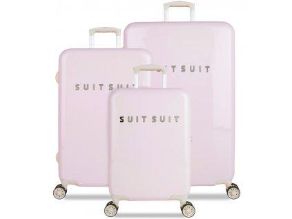 Sada cestovních kufrů SUITSUIT® TR-1221/3 - Fabulous Fifties Pink Dust  + LED svítilna