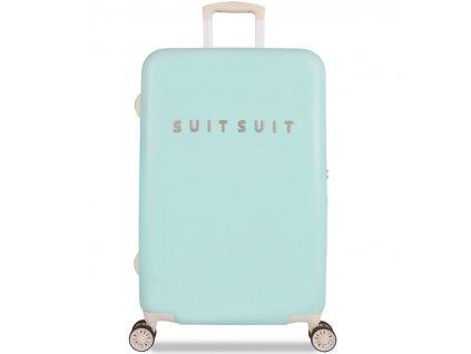 Cestovní kufr SUITSUIT® TR-1222/3-M - Fabulous Fifties Luminous Mint  + LED svítilna