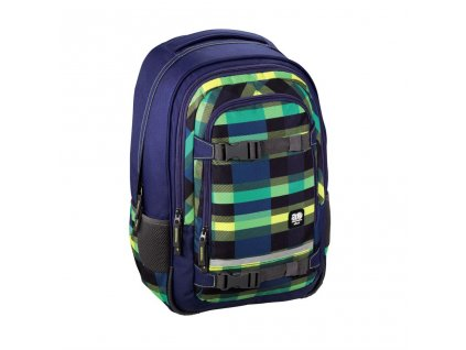 "Školní batoh All Out ""Selby"" Backpack, Summer Check Green  + LED svítilna"