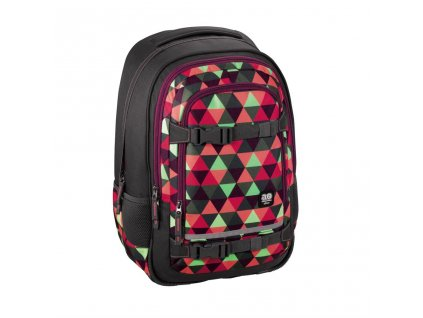 "Školní batoh All Out ""Selby"" Backpack, Happy Triangle  + LED svítilna"