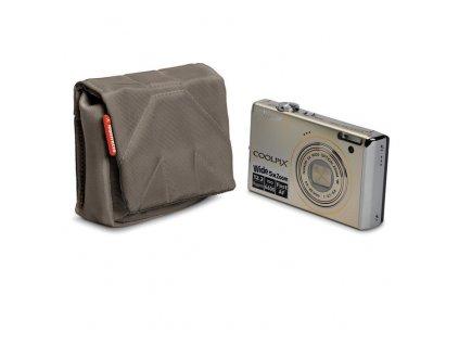 7738 manfrotto stile scp 1bc nano pouzdro na kompaktni fotoaparat vel 1 olivove hneda