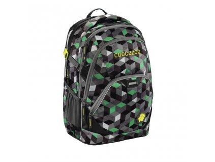 Školní batoh Coocazoo EvverClevver2, Crazy Cubes Green  + 5 % sleva po registraci + LED svítilna