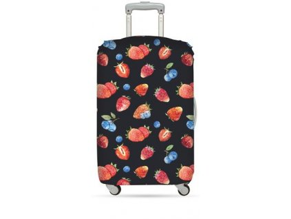 LOQI juicy strawberry luggage cover WEB large