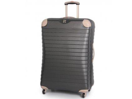Cestovní kufr IT Luggage TR-1036/3-XL ABS - charcoal  + LED svítilna