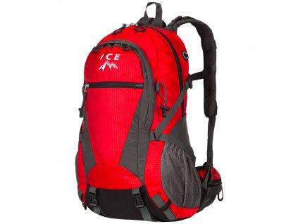 Batoh sportovní Mountain ICE 7581 - červená/šedá