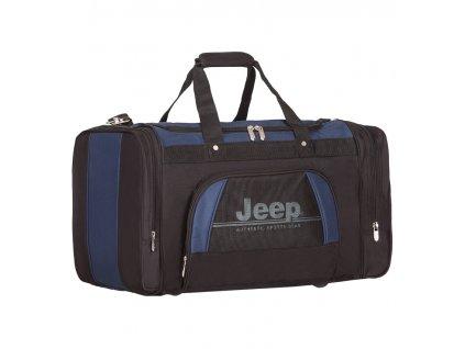 Cestovní taška JEEP 762 Deluxe - černá/modrá
