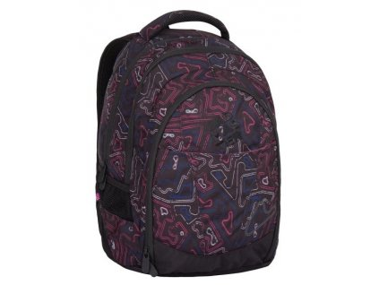 Bagmaster DIGITAL 7 A BLACK/PINK/BLUE  + LED svítilna