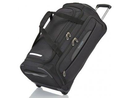 Travelite CrossLITE Wheeled duffle M Black  + Sluchátka, myš nebo pouzdro