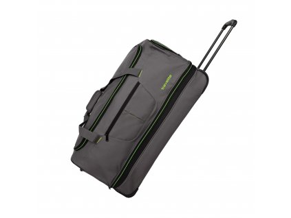 Travelite Basics Wheeled duffle L Grey/green  + LED svítilna