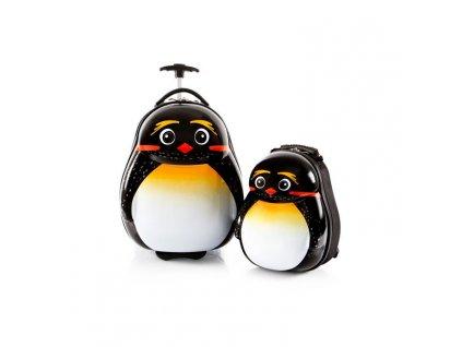 Heys Travel Tots Lightweight Kids Emperor Penguin – sada batohu a kufru  + LED svítilna