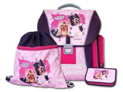 Školní batohový set Pupies 3-dílný  + Sluchátka, myš nebo pouzdro