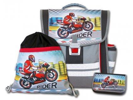 Školní aktovkový set Rider 3-dílný