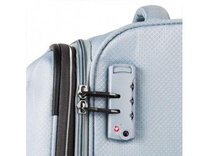 Travelite Kite 4w M Silver  + Sluchátka, myš nebo pouzdro