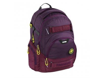 Školní batoh Coocazoo CarryLarry2, Solid Berryman  + Sluchátka, myš nebo pouzdro