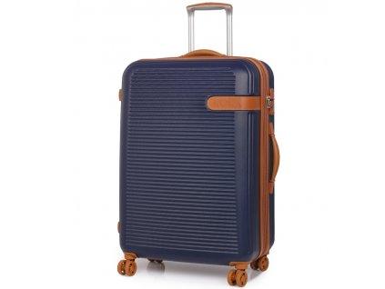 Cestovní kufr ROCK TR-0159/3-L ABS - modrá  + LED svítilna