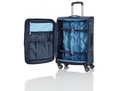 Travelite Capri 4w L Navy  + LED svítilna