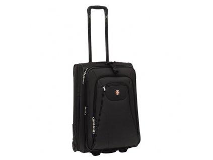 Ellehammer Copenhagen Trolley, cestovní kufr, rozšířitelný, vel. M, černý  + LED svítilna