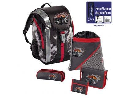 HAMA Školní batoh - set, Step by Step Flexline GIGANTIC WHEELS  + Sluchátka, myš nebo pouzdro