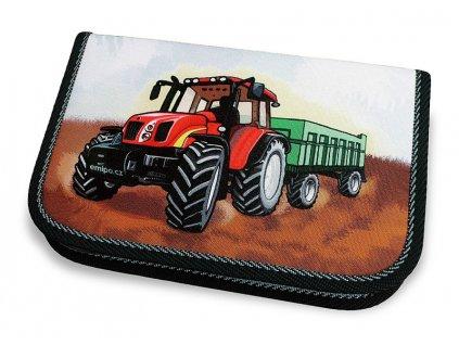 Školní penál 1-klopa Traktor (Varianta Neplněný penál)