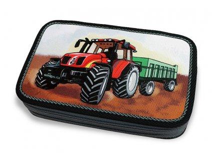 Školní penál 2-patra Traktor (Varianta Neplněný penál)
