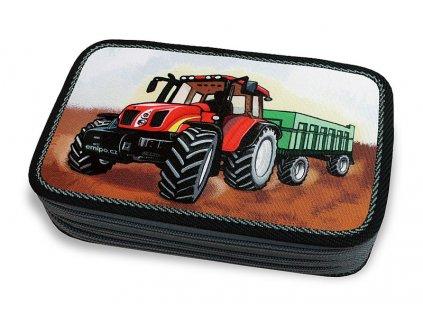 Školní penál 3-patra Traktor (Varianta Neplněný penál)