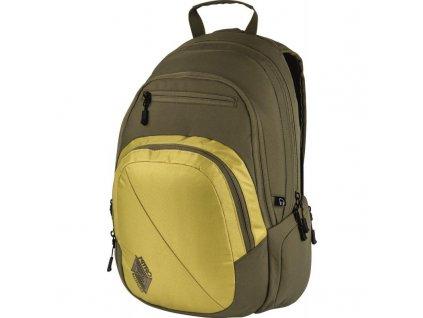NITRO batoh STASH golden mud  + Sluchátka, myš nebo pouzdro