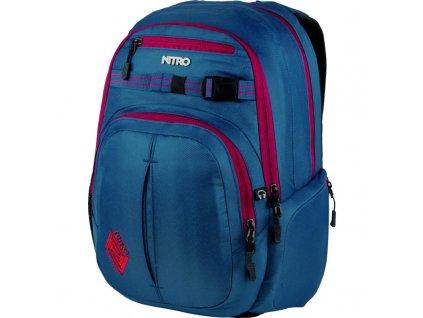 NITRO batoh CHASE blue steel  + LED svítilna