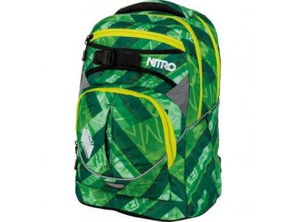 NITRO školní batoh SUPERHERO wicked green  + LED svítilna