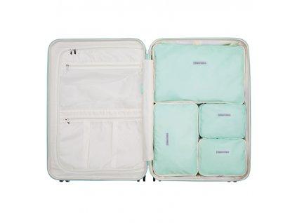 Sada obalů SUITSUIT® Perfect Packing system vel. L Luminous Mint  + LED svítilna