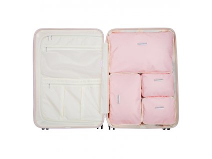 Sada obalů SUITSUIT® Perfect Packing system vel. L Pink Dust  + LED svítilna