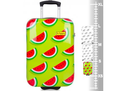 Kabinové zavazadlo B.HPPY BH-1606/3-S - Two In A Melon  + Sluchátka, myš nebo pouzdro