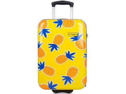 Kabinové zavazadlo B.HPPY BH-1607/3-S - Home Sweet Pineapple  + Sluchátka, myš nebo pouzdro