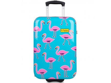 Kabinové zavazadlo B.HPPY BH-1608/3-S - Flamengogo  + Sluchátka, myš nebo pouzdro