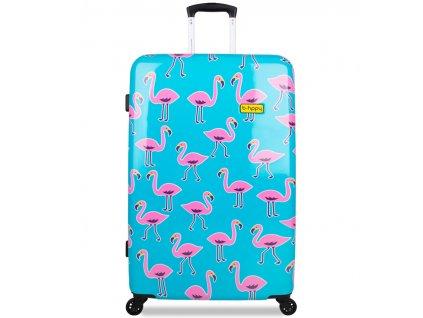 Cestovní kufr B.HPPY BH-1608/3-L - Flamengogo  + Sluchátka, myš nebo pouzdro