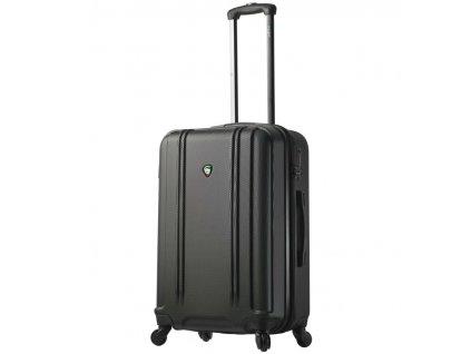 Cestovní kufr MIA TORO M1210/3-M - černá  + LED svítilna